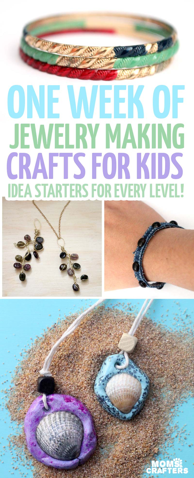 Jewelry Making Crafts One Week Of Easy Ideas Moms And Crafters