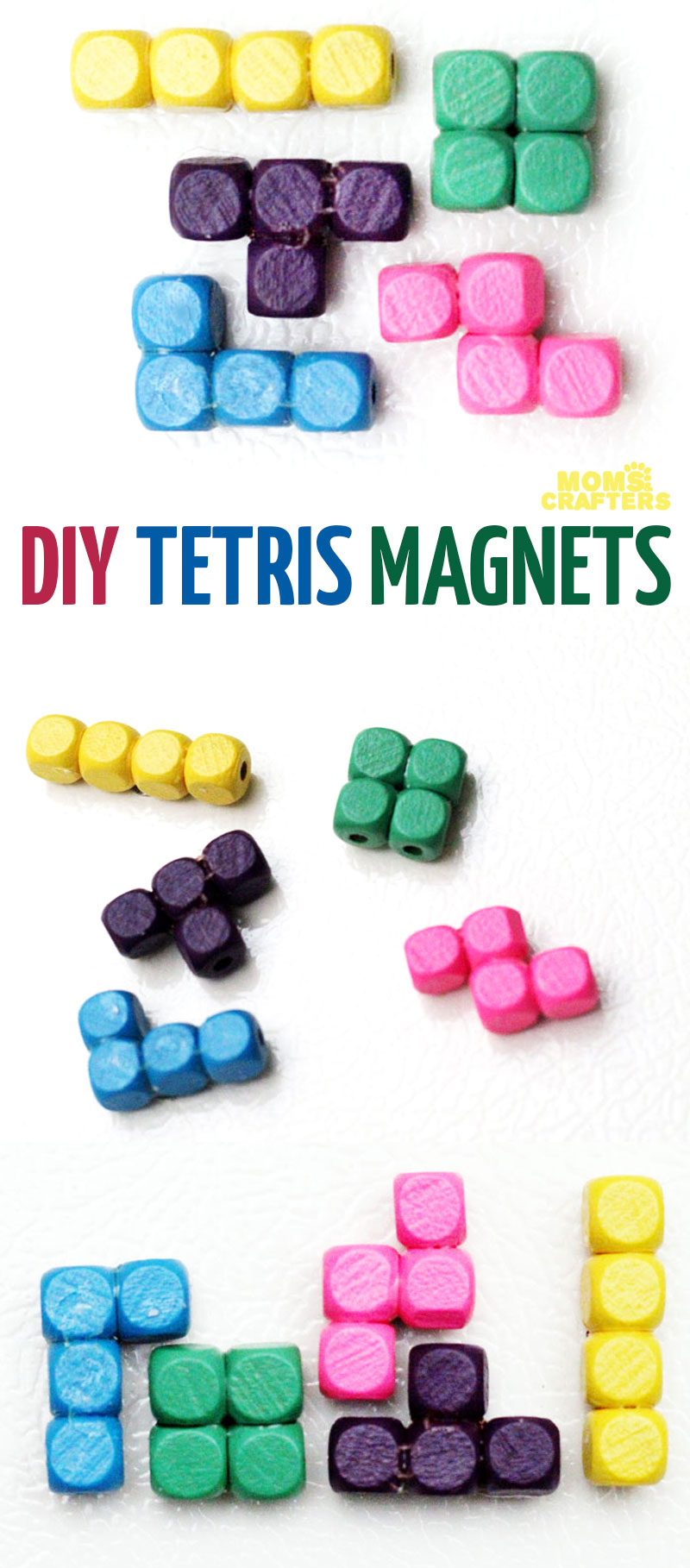 Are you a Tetris fan or do you know one? You'll love this Tetris craft! Tetris pieces magnets are quick and easy to make and are a great cheap DIY gift.