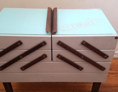 Vintage Sewing Box DIY Makeover