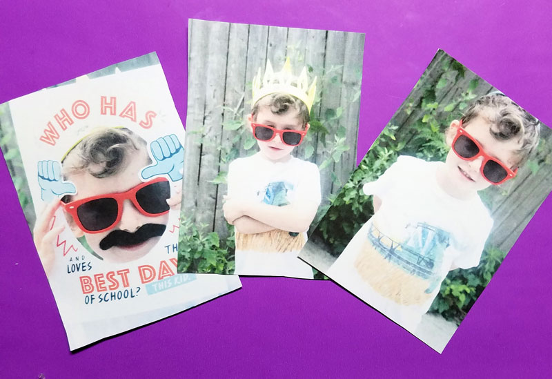 Make these fun DIY wooden frames for your back to school pictures! What a cool way to preserve the first day of school memories with a mommy-and-me craft session! This school bus paper craft for kids is super easy.