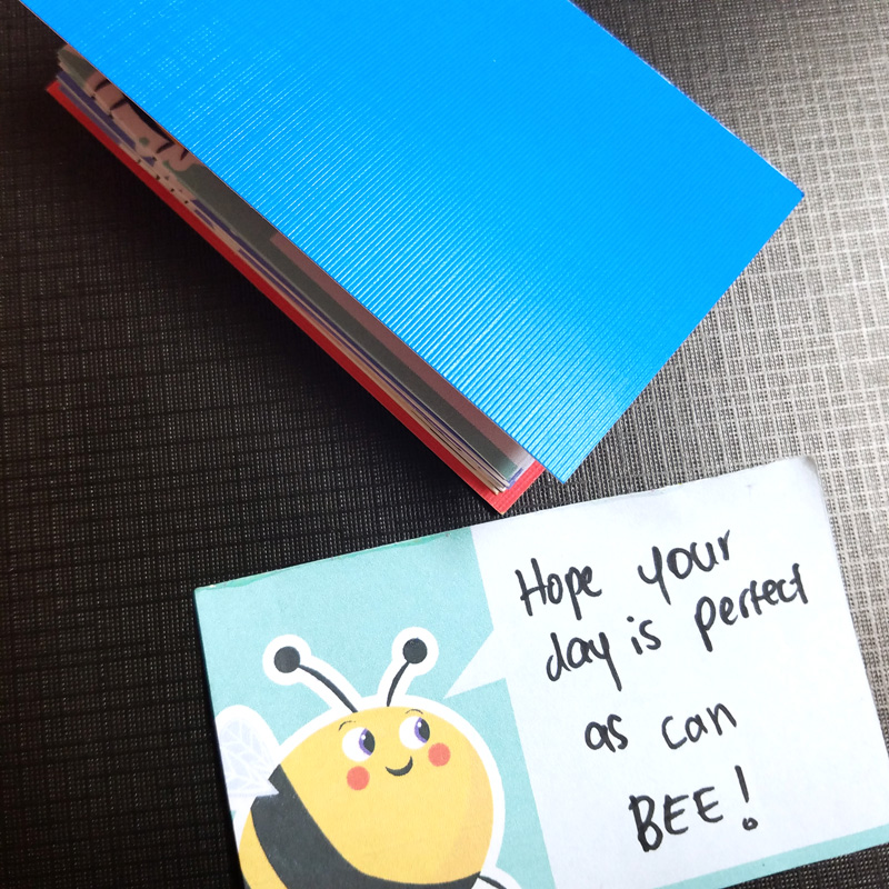 Print some ADORABLE bee lunch box notes and then turn them into a DIY notepad - you can give it as a gift, or just to keep it handy for yourself! Or, you can just use these free printable notes right from the sheet - enjoy!