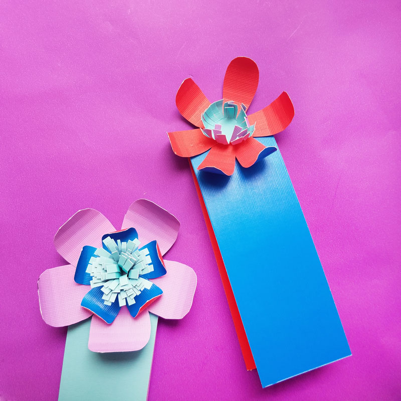 Paper Flower Bookmarks An Easy Paper Craft For Beginners