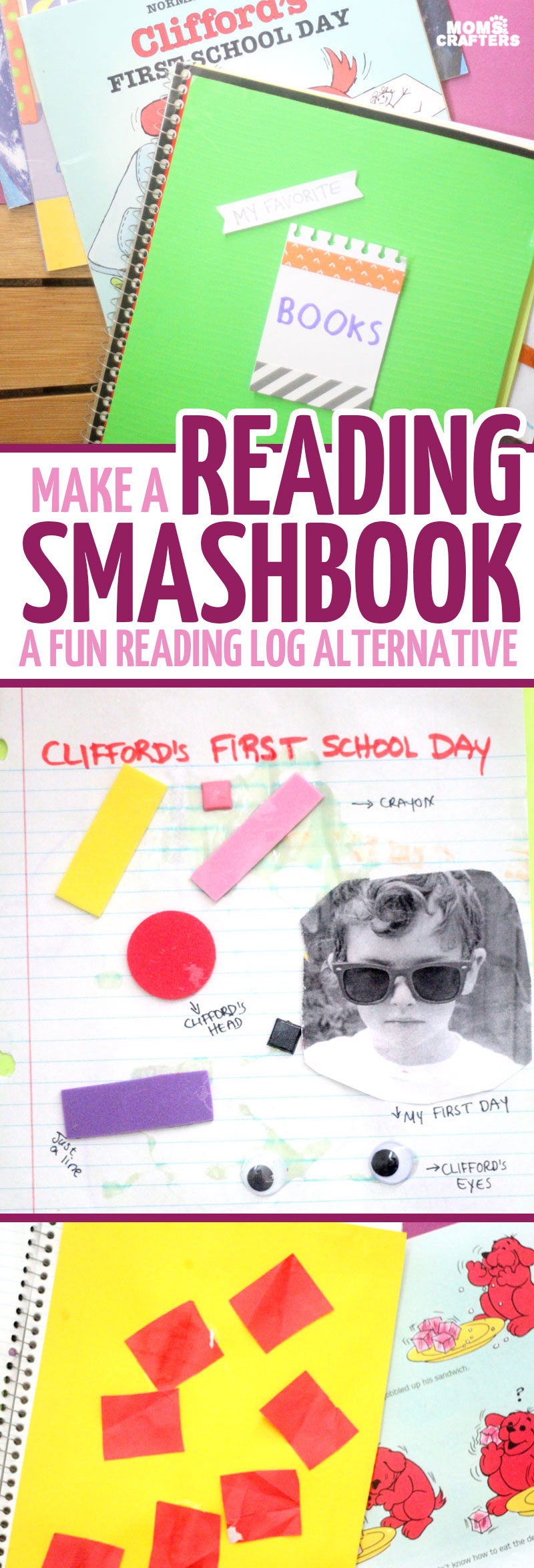 A reading smashbook is a super fun reading log alternative and a great way to inspire literacy in kids! My preschooler made one and wanted to share his ideas with you - it's super open-ended and way to make reading FUN!!