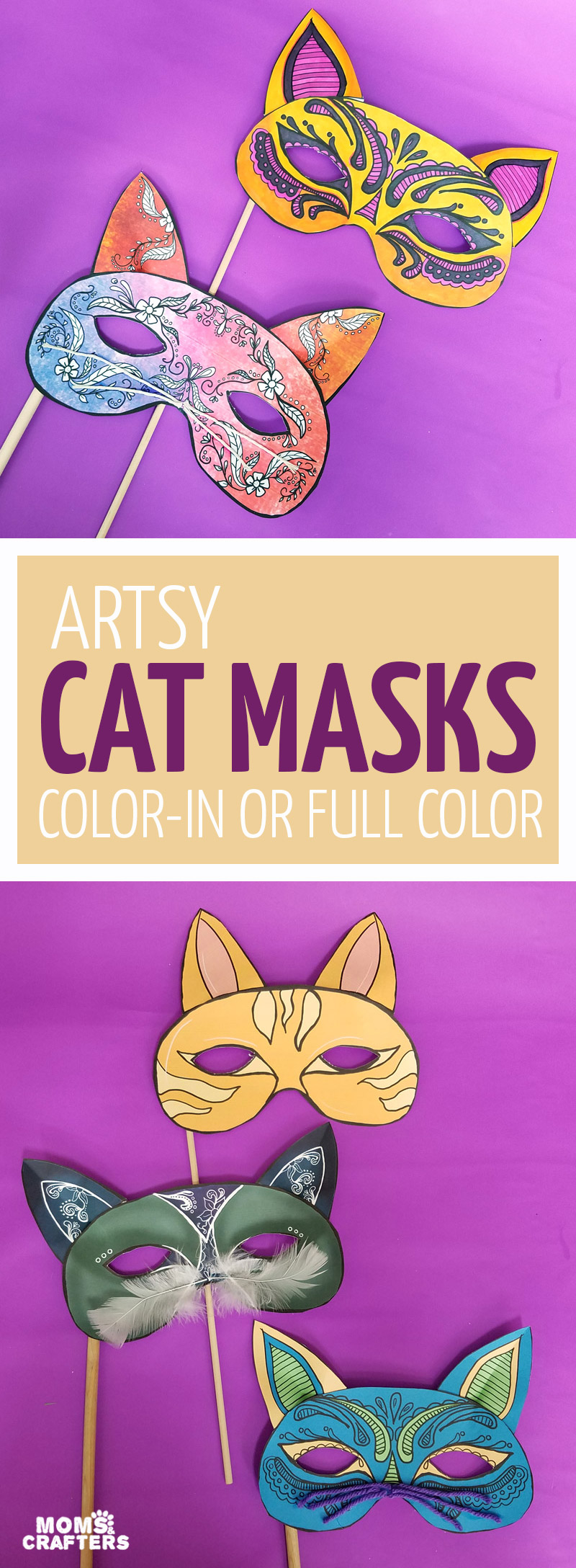 graphic relating to Et Mask Printable identified as Cat Masks Printables and Paper Craft * Mothers and Crafters