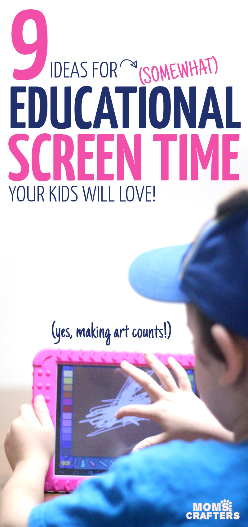 These practical ideas for educational screen time will make your kid want to learn! YEs, these are totally kid-approved for kids of all ages including preschool, kindergarten, all the way up to teens and tweens! They include learning apps, online courses and creative ideas - all of which will make great boredom busters while granting mom her sanity back :)