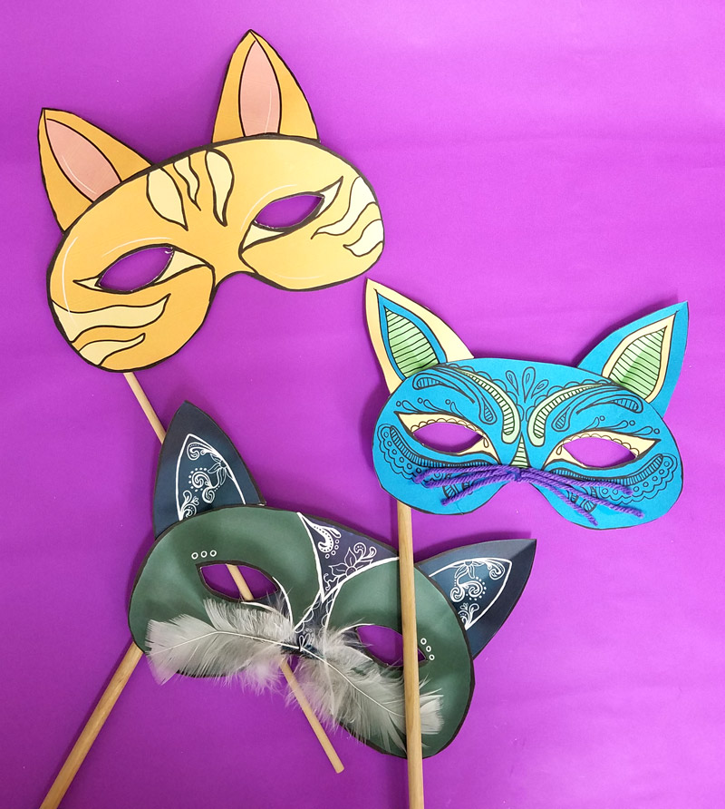 graphic about Cat Mask Printable titled Cat Masks Printables and Paper Craft * Mothers and Crafters