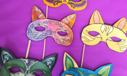 These cat masks printables are so beautiful and easy to make! You'll love the final result. It's cool as a halloween papercraft or for any time of year. These papercraft masks are available as adult coloring pages or as color-in crafts for kids, or even as a full color printable paper craft - and it's easy too!