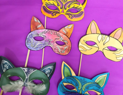 Cat Masks Printables and Paper Craft