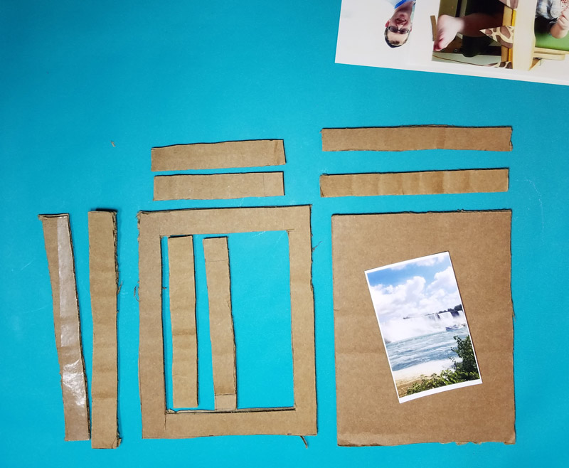 Diy Shadow Box Frame From Cardboard Moms And Crafters