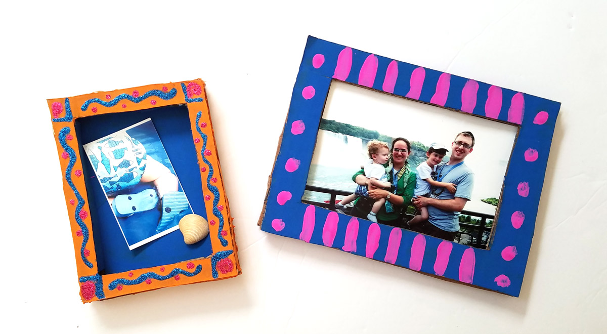 Make a fun DIY shadow box frame to give as a last minute photo gift that has meaning! Use recycled cardboard boxes to create meaningful DIY gifts - perfect for teens and tweens to make for their friends!