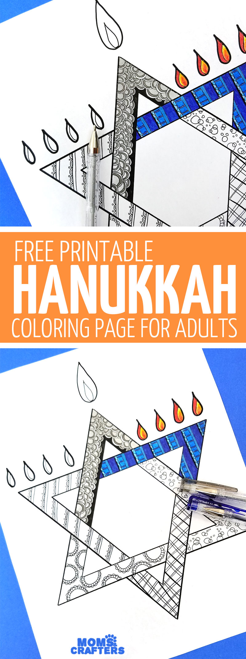 free printable hanukkah coloring page for adults moms