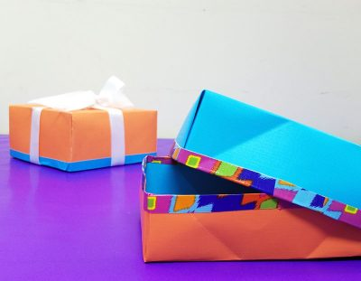 DIY Gift Box from a Sheet of Scrapbook Paper!