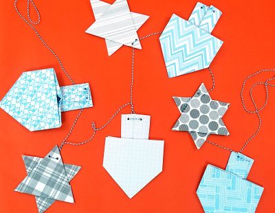 Hanukkah Garland Origami