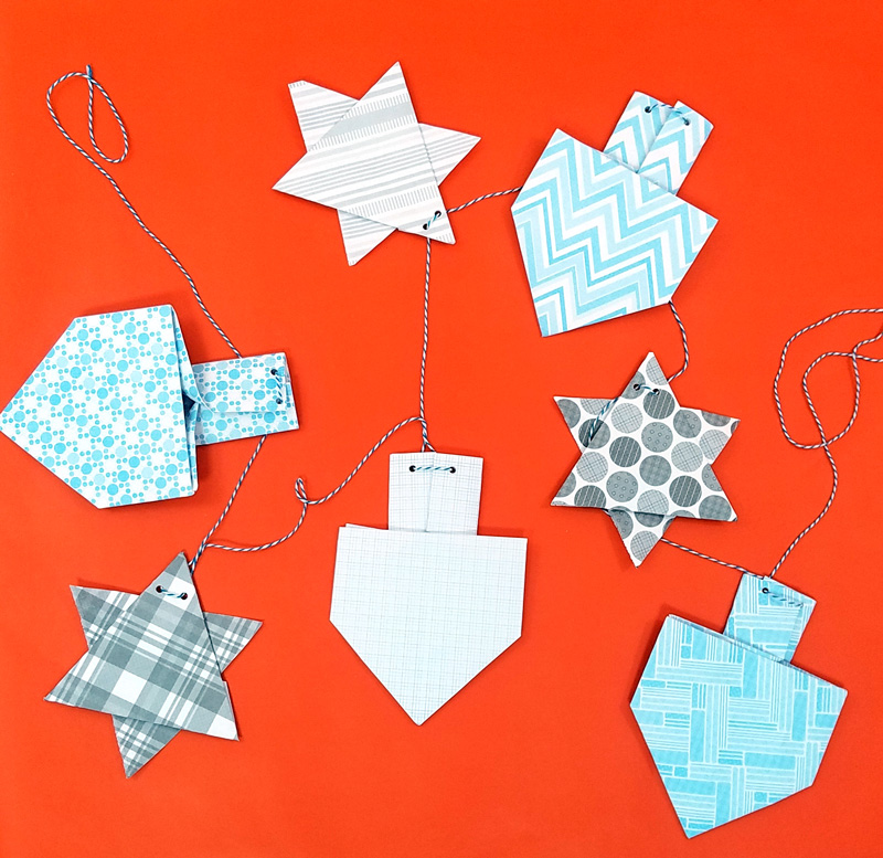 Hanukkah Garland Origami Moms And Crafters
