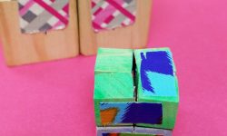 Make this wooden DIY infinity cube - an addictive fidget toy for kids and grown-ups! You'll love this DIY fidget spinner craft alternative - it's great for antsy kids and adult swho need to do something with their hands #fidgettoy #fidgetspinner #infinitycube #diytoy #fidget #diy #craft