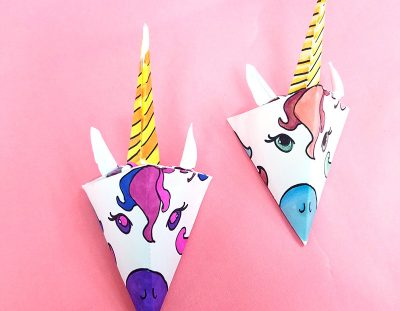 Unicorn Paper Craft Template – Make a Mobile!