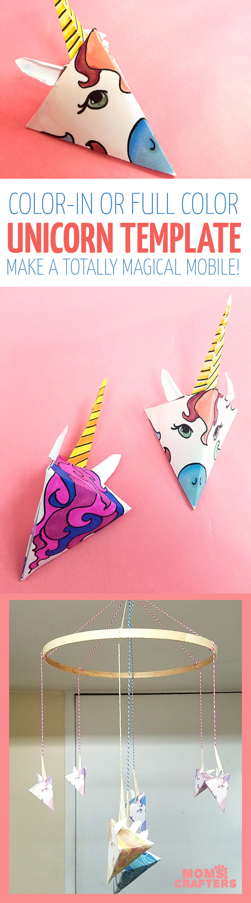 This Adorable Unicorn Paper Craft Is Quite Unique Get The Free Color In Template