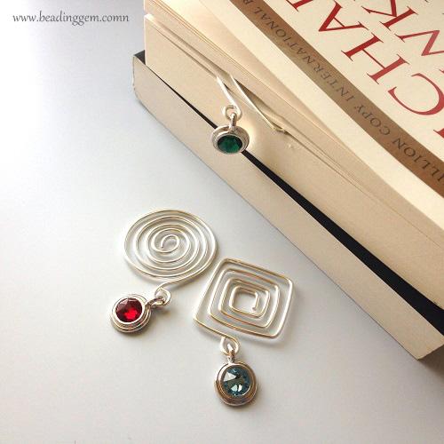 Geometric Spiral Wire Bookmarks