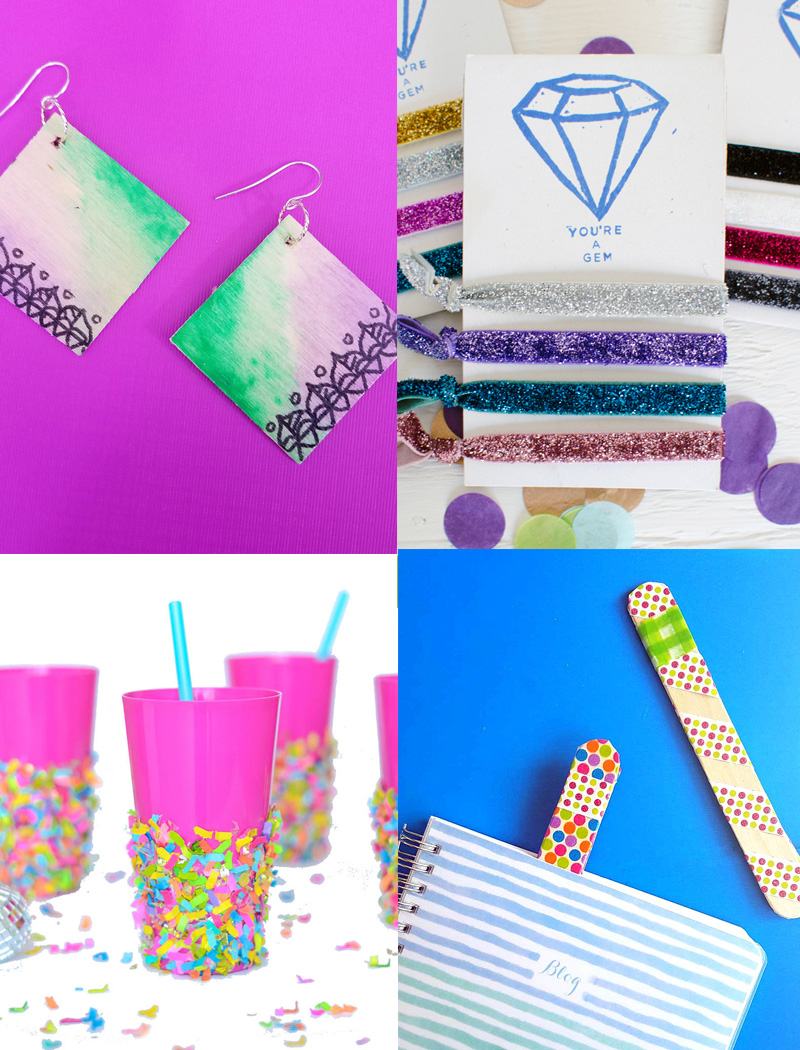 These cool and easy DIY ideas are the perfect birthday party crafts for tweens and teens! They include really easy craft ideas for big kids that are quick and easy and perfect for a birthday party, bat mitzvah, or quinceanera. #crafts #teencrafts #tween