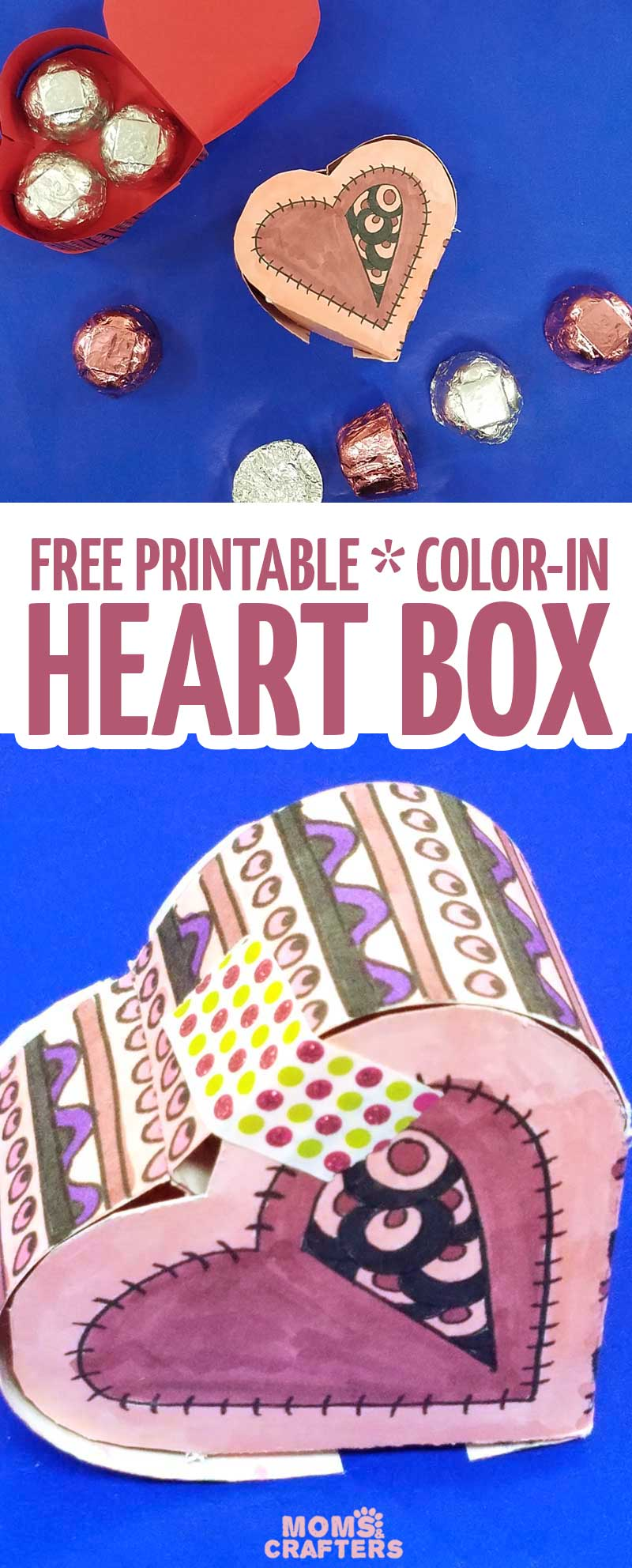 Grab The Free Printable Template And Craft This Adorable Heart Box For Valentines Day