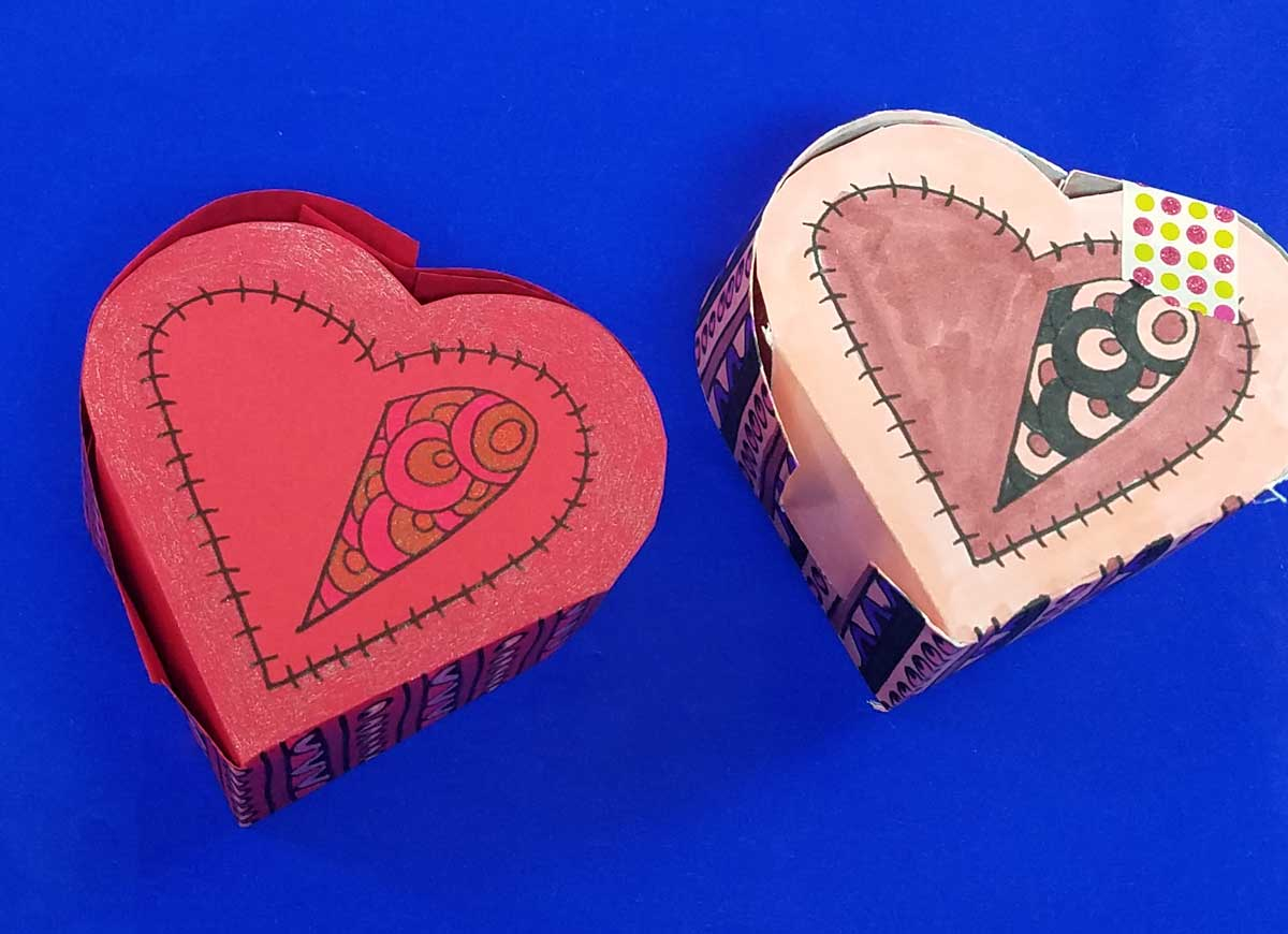 Origami heart box free printable coloring template moms and grab the free printable template and craft this adorable heart box for valentines day this jeuxipadfo Choice Image