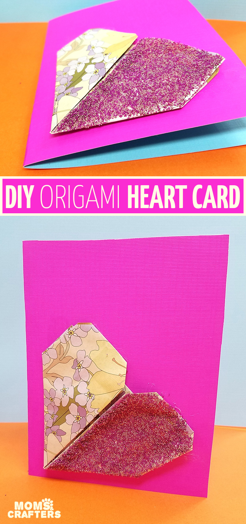 Origami Heart Card Valentines Day Craft For Tweens And Teens
