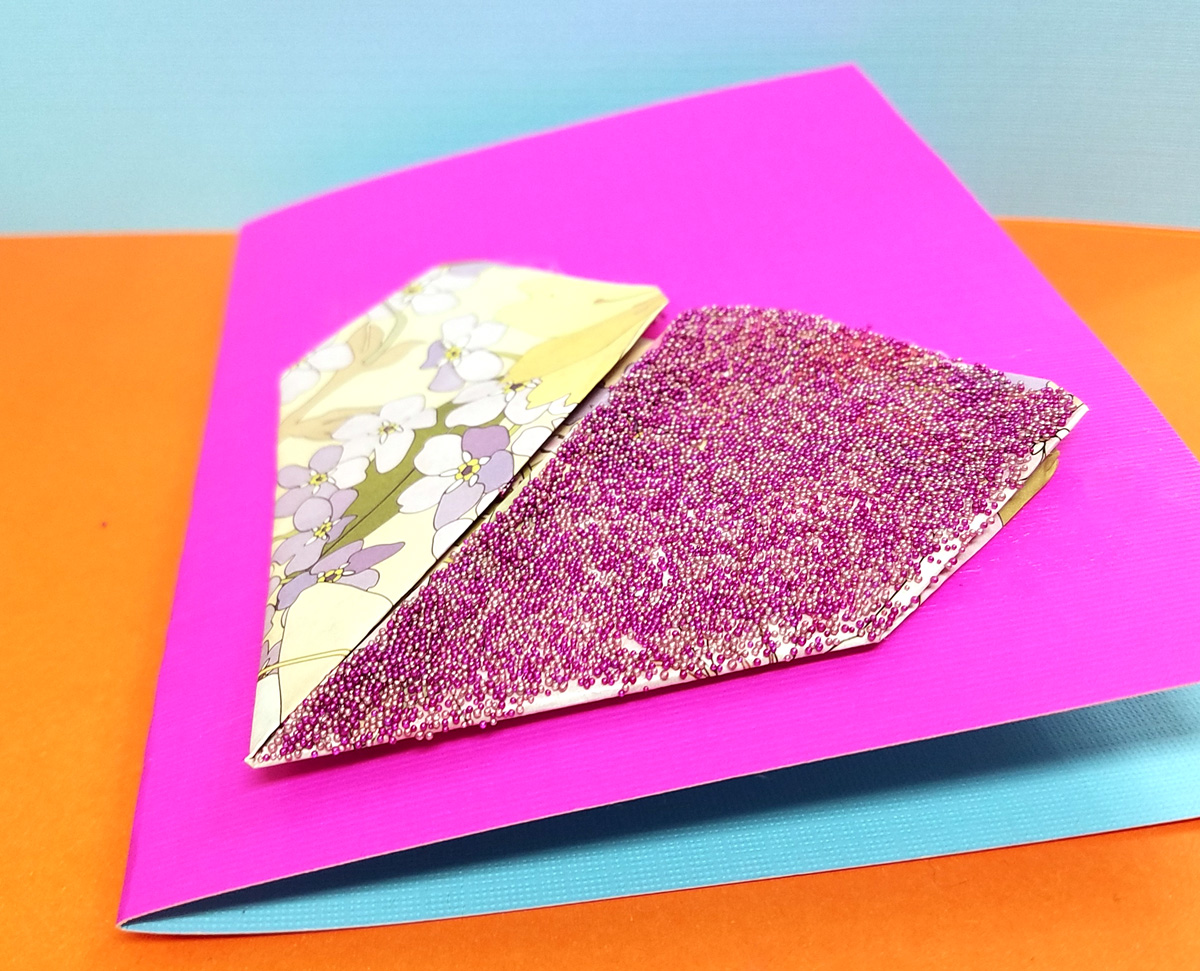 Make This Sweet Little Origami Heart Card Craft