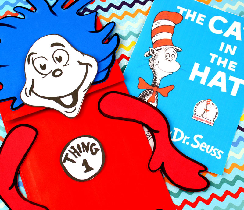Thing 1 and Thing 2 Puppets - Free Printable Template - Moms and ...