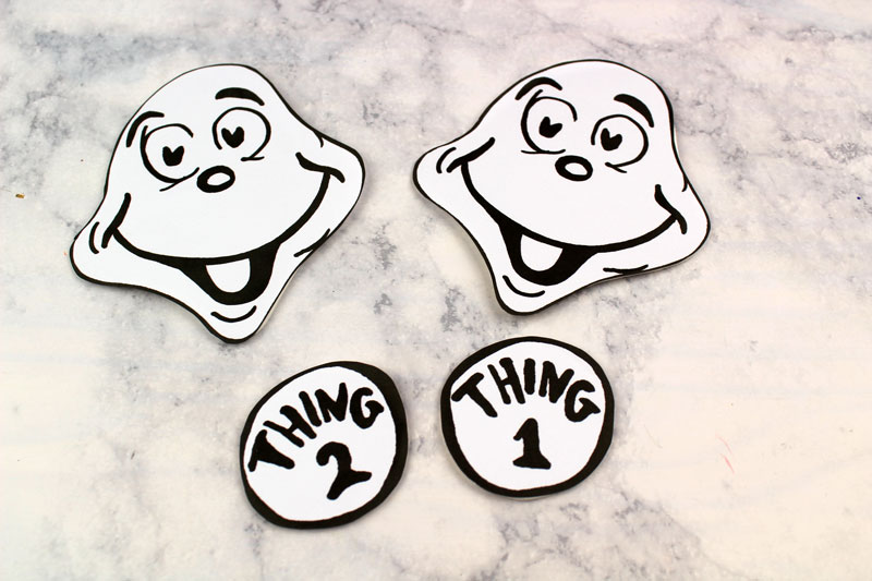 image about Thing 1 and Thing 2 Printable Template named Factor 1 and Issue 2 Puppets - Totally free Printable Template * Mothers