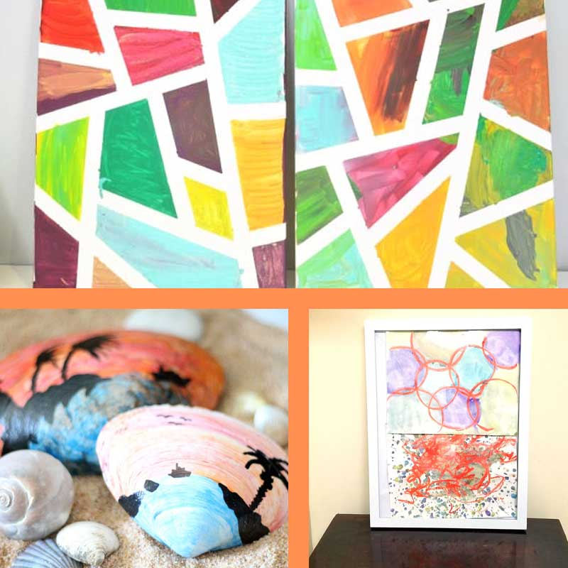 Art Projects for teens and tweens to create - perfect for art night!