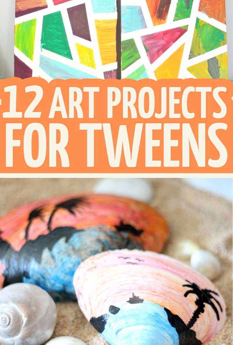 12 Art Projects for tweens | DIY easy art