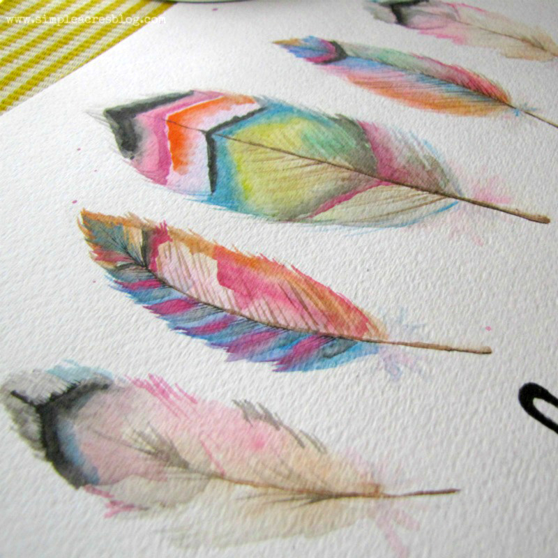 Feathers watercolor art with the best watercolor paints
