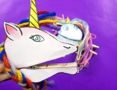 Clothespin Puppets – Unicorns! (Free Template)