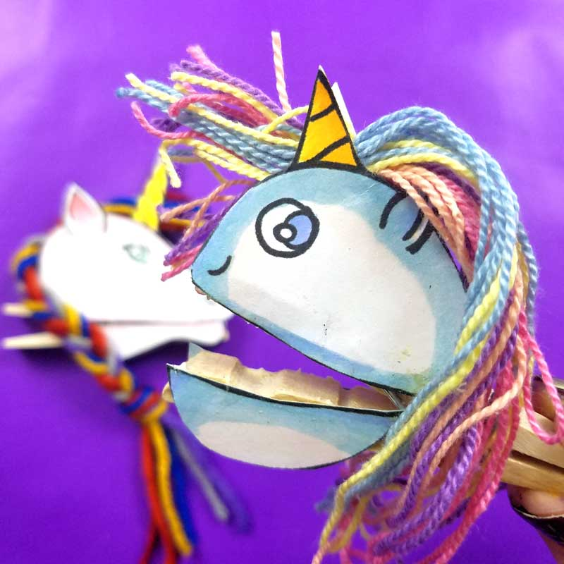 Clothespin Puppets Unicorns Kawaii