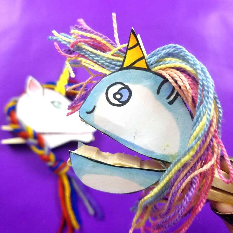 Clothespin Puppets Unicorns Kawaii