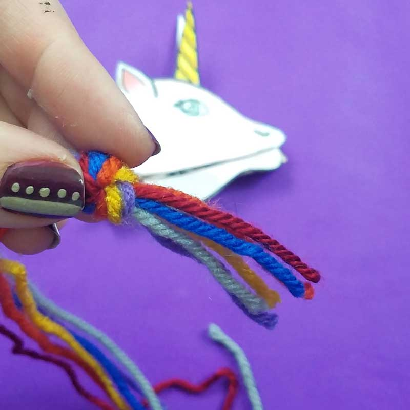 Unicorn clothespin puppets - free printable - step 6