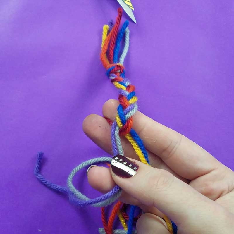 Unicorn clothespin puppets - free printable - step 7