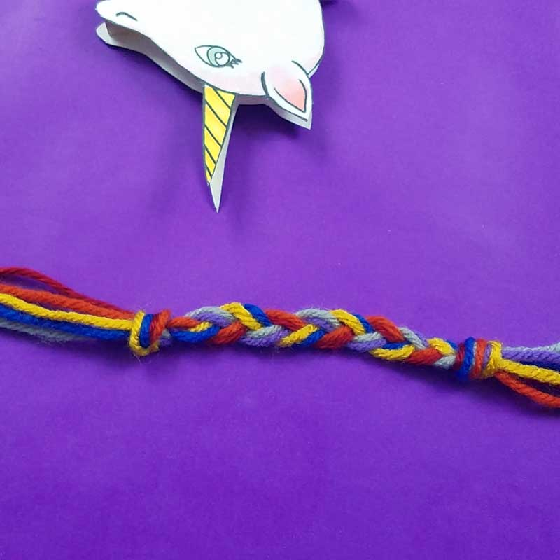 Unicorn clothespin puppets - free printable - step 8