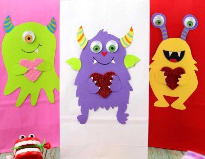 Valentine Treat Bags – Monster Love!