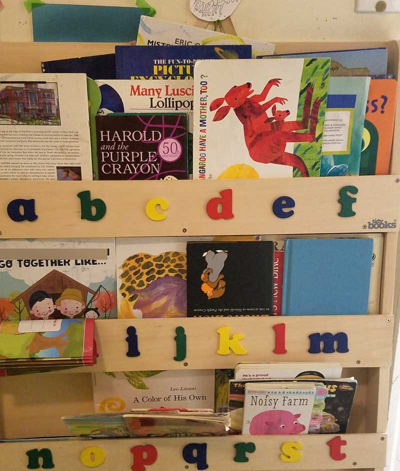 Book organization and rotation system