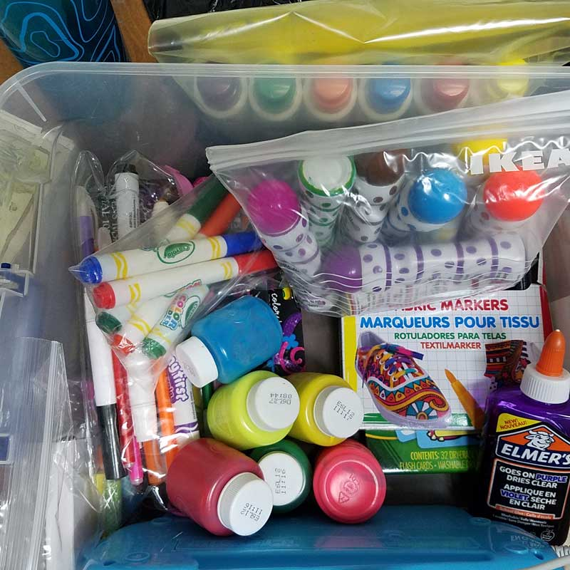 Playroom organization - where to keep art supplies and how to organize them