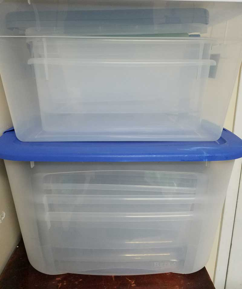 Toy organization containers and supplies