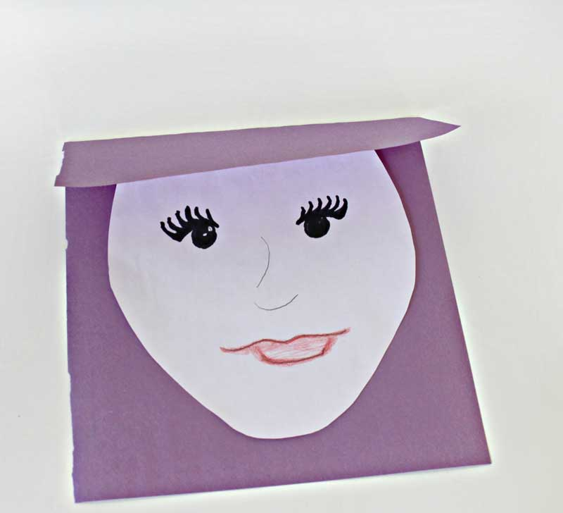 Step 3. Let your child cut out and color the face.