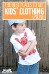 These are the best kids clothing stores online to find adorable and affordable outfits for babies, toddlers, preschoolers, and kids! You'll find ideas for dress clothing stores, budget-friendly cheap kids clothing websites, boutique kids' clothing shops, and even designer! #kids #parenting #momsandcrafters