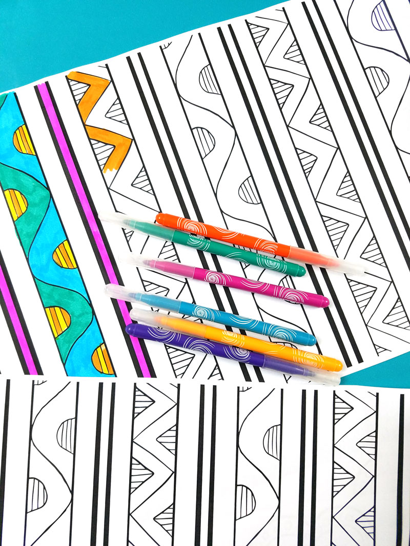 Free printable color-in placemats for adults, kids, tweens, teens