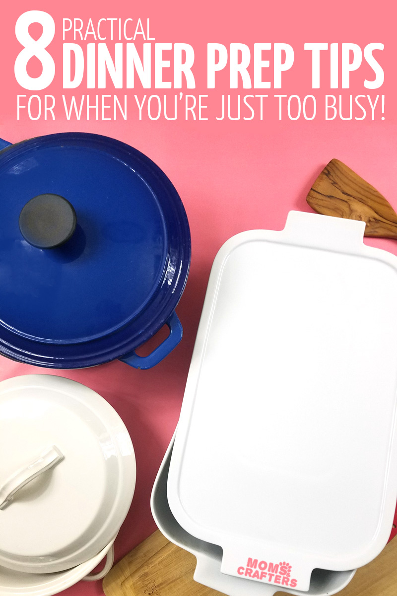 These simple meal prep tips include your guide to one dish dinners - because making dinner shouldn't be a chore! #mealprep #onepot #momsandcrafters