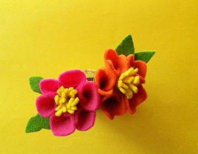 Felt Flower Template – Drinking Straw Flower Craft