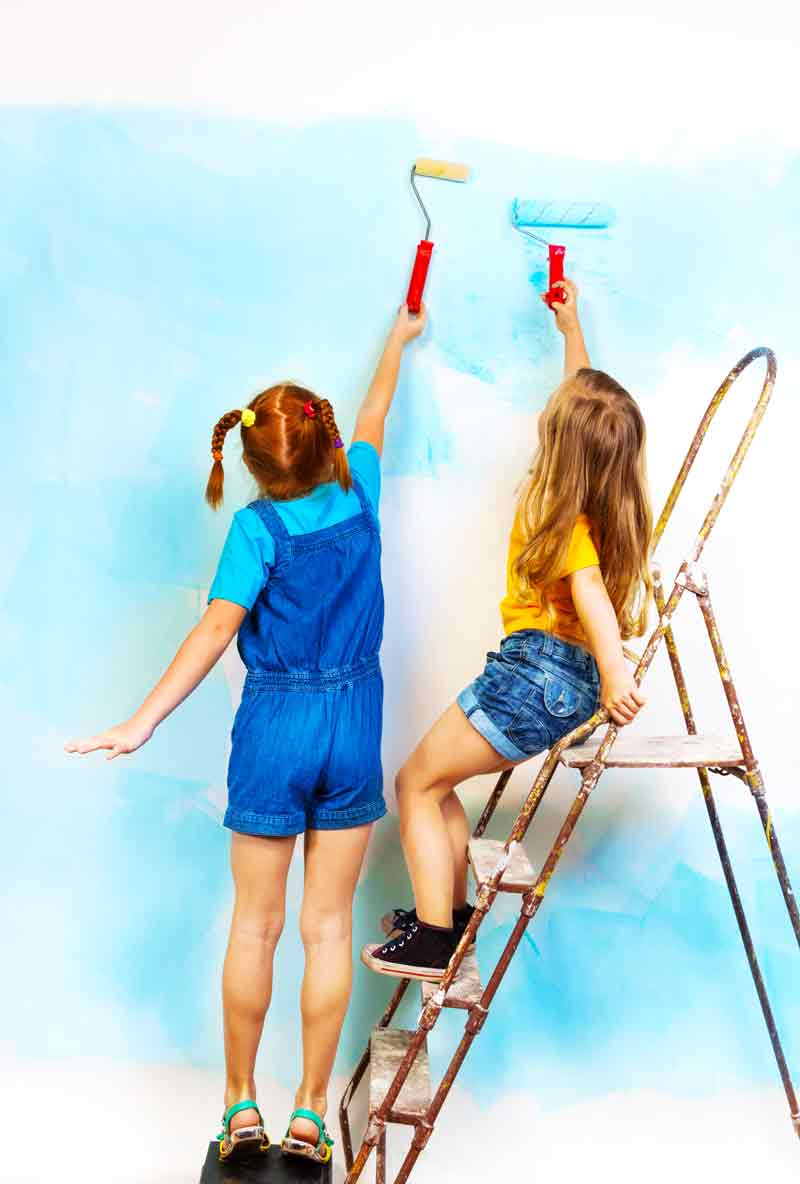 Hacks for kid friendly home decor on a budget: a fresh coat of washable paint!