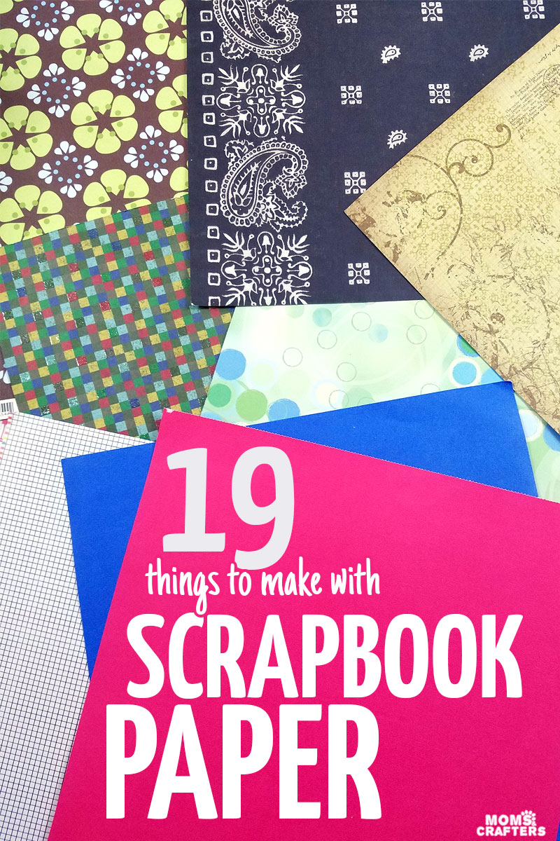You'll want to give each of these scrapbook paper crafts a try today! These things to make with scrapbook paper are simple for anyone to do. #momsandcrafters #scrapbooking #crafts