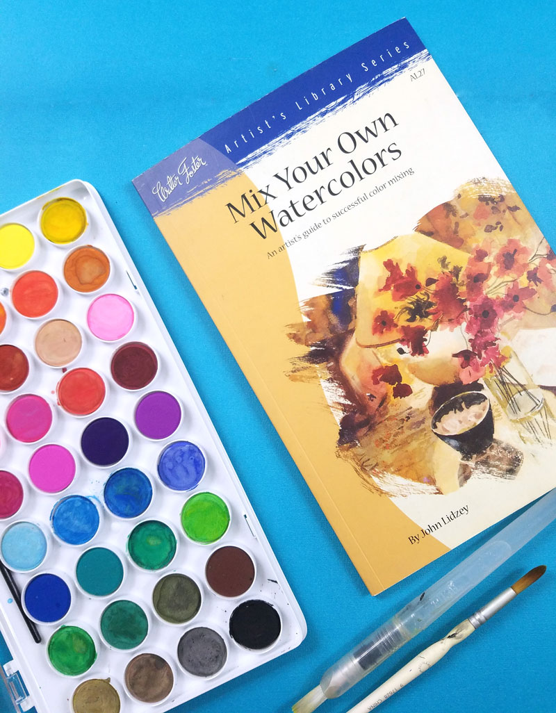 MIx Your Own Watercolors - the best watercolor books for learning color mixing with watercolors